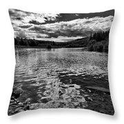 Rocky Shore Of The Moose River Throw Pillow