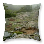 Rocky View From Near The Top Throw Pillow