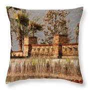 Rocky Waterscape Throw Pillow
