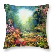 Rococo Delight Throw Pillow by Hannibal Mane