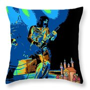 R P  And The Ufo At The Castle Made Of Sand Throw Pillow