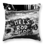 Rod Shop Truck Throw Pillow