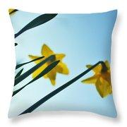 Rodchenko's Daffodils Throw Pillow