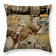 Rodeo Abstract 001 Throw Pillow