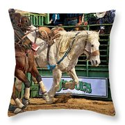 Rodeo Action Throw Pillow