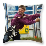 Rodeo All Strung Out Throw Pillow