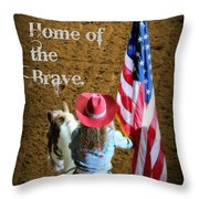 Rodeo America - Land Of The Free Throw Pillow