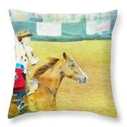 Rodeo Beauty Three Throw Pillow