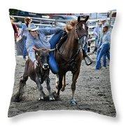 Rodeo Bulldog Throw Pillow