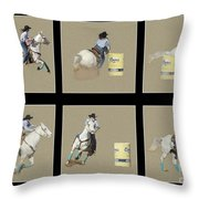 Rodeo Collage 2 Throw Pillow