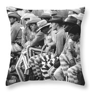 Rodeo Cowboy Prisoners Throw Pillow