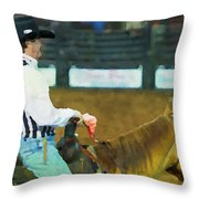 Rodeo Cowboy Referee Throw Pillow
