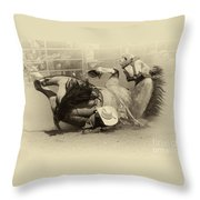 Rodeo Crunch Time 2 Throw Pillow