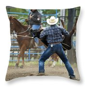 Rodeo Easy Does It Throw Pillow