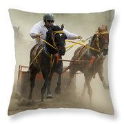 Rodeo Eat My Dust 1 Throw Pillow
