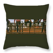 Rodeo Fence Sitters- Warm Toned Throw Pillow