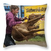 Rodeo Fit To Be Tied Throw Pillow