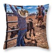 Rodeo Gate Keeper Throw Pillow