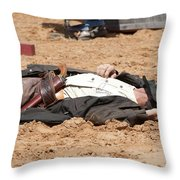 Rodeo Gunslinger Victim Color Throw Pillow