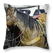 Rodeo Horse Two Throw Pillow