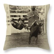 Rodeo Learning To Fly Throw Pillow