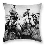 Rodeo Men Throw Pillow