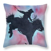 Rodeo No 1 Throw Pillow