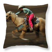 Rodeo Riding A Hurricane 2 Throw Pillow