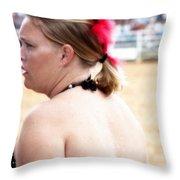 Rodeo Saloon Girl Profile Throw Pillow