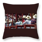 Rodeo Time Cowboys Throw Pillow