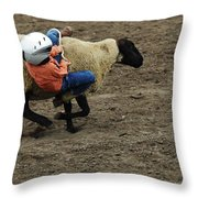 Rodeo Velcro Rider 2 Throw Pillow