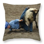 Rodeo Velcro Rider 3 Throw Pillow