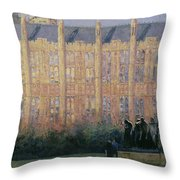 Rodin In London Oil On Canvas Throw Pillow