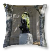 Rodin Museum - Philadelphia Throw Pillow