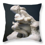 Rodin's Woman And Child Throw Pillow