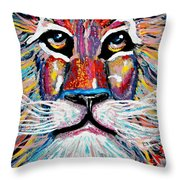 Rodney Abstract Lion Throw Pillow
