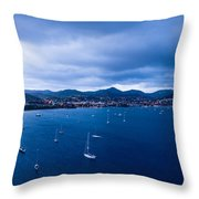 Rodney Bay Morning Blues Throw Pillow