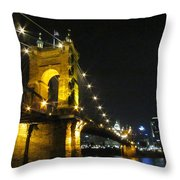 Roebling Bridge II Throw Pillow