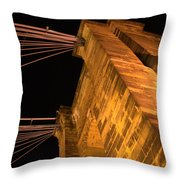Roebling Tower I Throw Pillow