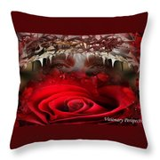 Roes Among Thorns Throw Pillow