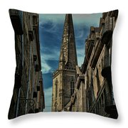 Cathedrale Saint-vincent-de-saragosse De Saint-malo Throw Pillow