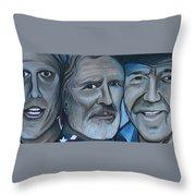 Roger Alan Wade Kris Kristoferson Billy Joe Shaver Throw Pillow