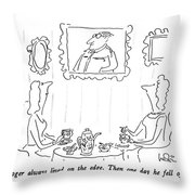 Roger Always Lived On The Edge.  Then One Day Throw Pillow