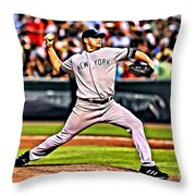 Roger Clemens Painting Throw Pillow