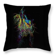 Roger Daltry At Woodstock Throw Pillow