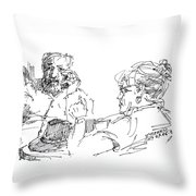 Roger With A Lady Throw Pillow