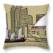 Roger's Centre And Tall Ship Throw Pillow