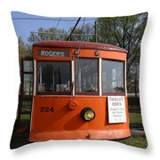 Rogers Trolley Throw Pillow
