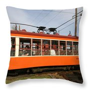 Rogers Trolley2 Throw Pillow