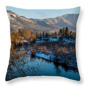 Rogue River Winter Throw Pillow